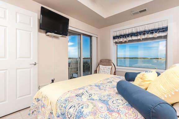 Olde Towne Yacht Club - Unit 2018 Master Bedroom - with views