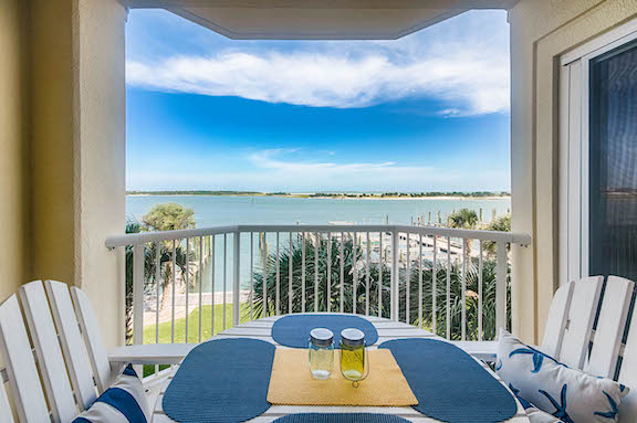 Olde Towne Yacht Club - Unit 2018 balcony - with views